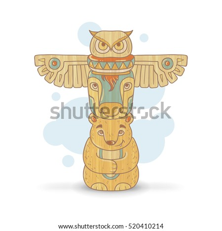 how to draw a totem pole with dove