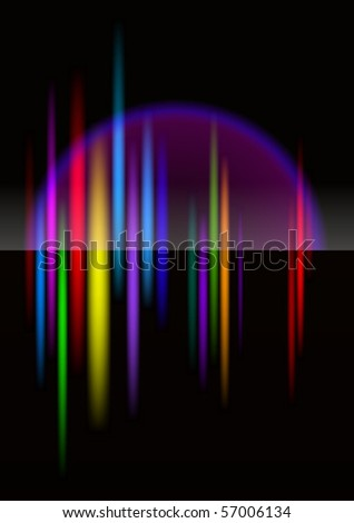 North-light abstract bright colorful background for design. Black release.