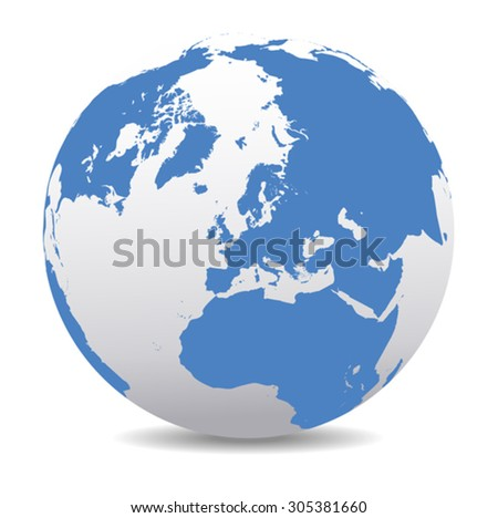 North Pole Europe Top of the World - stock vector
