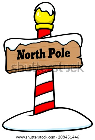 north pole sign stock vector 208451446 shutterstock rh shutterstock com north pole clipart black and white north pole sign clipart