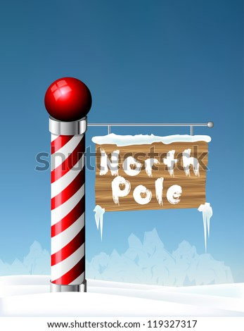 North Pole sign eps10