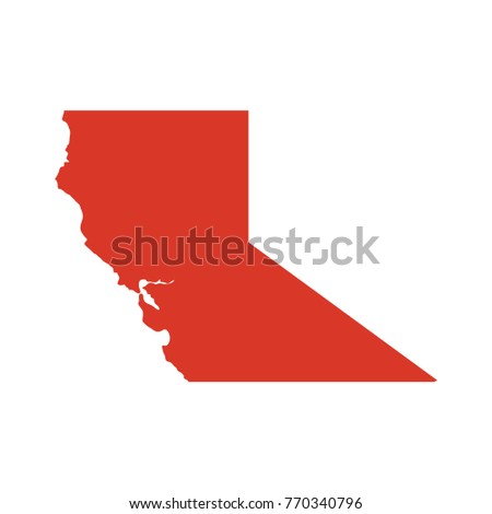 Northern california vector map silhouette northern stock vector northern california vector map silhouette northern california known as norcal map publicscrutiny Choice Image