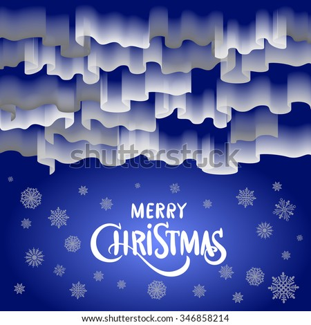 Northern lights. Abstract vector background art merry christmas - stock vector