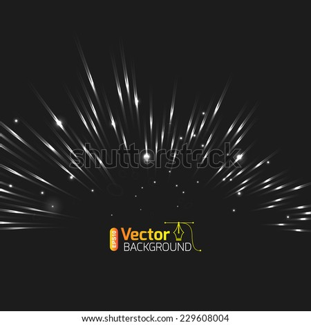 Northern lights, flash, lightning, experiment - stock vector