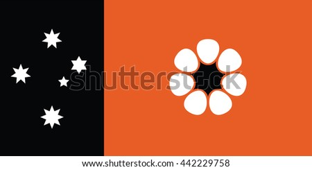 Northern Territory flag - stock vector