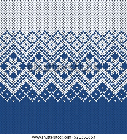 Norway Festive Sweater Fairisle Design Seamless Stock Vector Hd