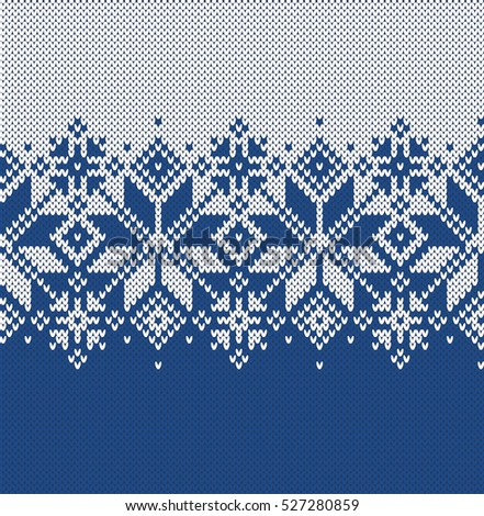 Norway Festive Sweater Fairisle Design Seamless Stock Vector ...