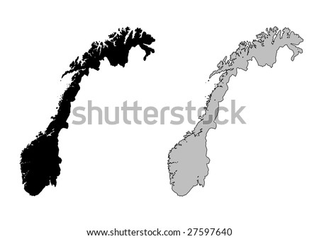 Norway Map Stock Images RoyaltyFree Images Vectors Shutterstock - Norway map drawing