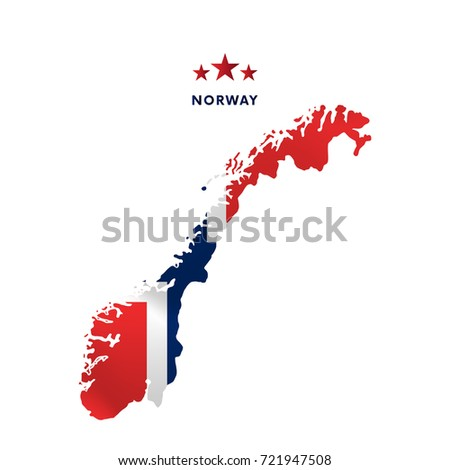 Norway Map Stock Images RoyaltyFree Images Vectors Shutterstock - Norway map and flag