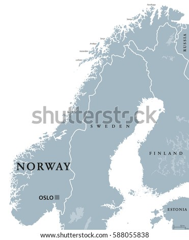 Norway Map Stock Images RoyaltyFree Images Vectors Shutterstock - Norway map vector countries