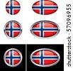 Norwegian Flag Buttons - stock photo