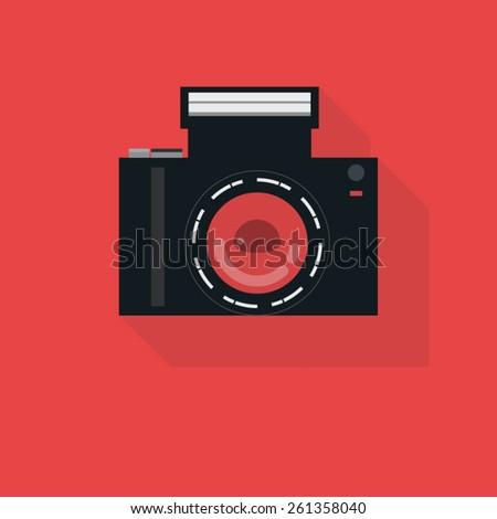 nostalgic cameras icon - stock vector