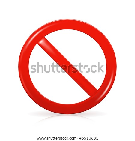 Not Allowed Sign, mesh - stock vector