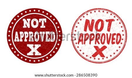 Not approved grunge rubber stamps on white background, vector illustration - stock vector