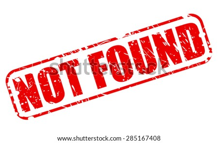 Not found red stamp text on white - stock vector