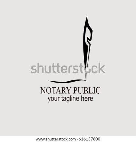 notary public logo vector illustration stock vector 2018 616137800 rh shutterstock com notary public logo ideas notary public logo maker