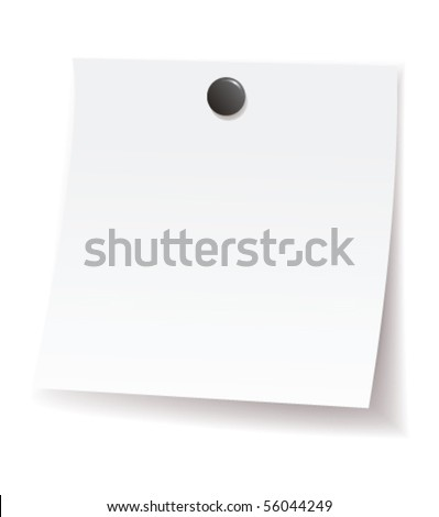 note pad - stock vector