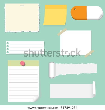 note pad and paper set