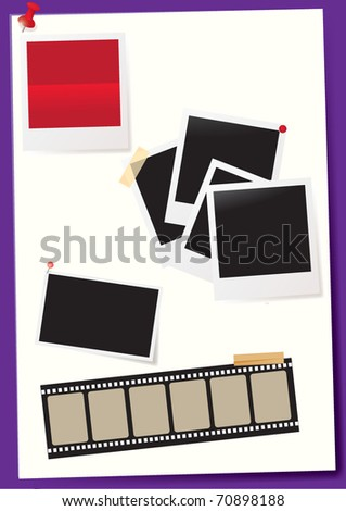 note paper - stock vector