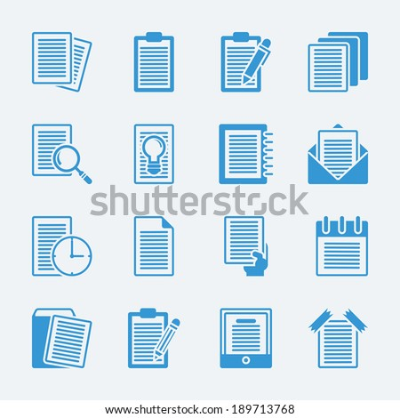 Note paper icons.Vector eps10 - stock vector