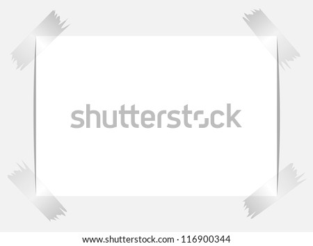 Note Paper, Isolated On Black Background, Vector Illustration