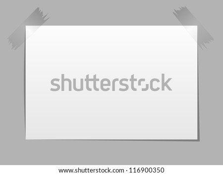 Note Paper, Isolated On Black Background, Vector Illustration - stock vector