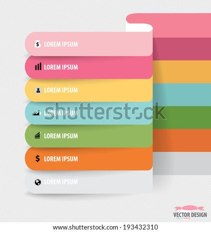 Note paper, modern infographics banners. Vector illustration. - stock vector