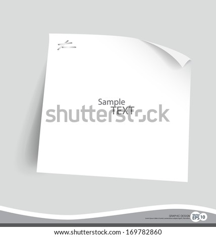Note paper, ready for your message. Vector illustration.
