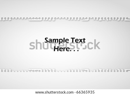Note Paper Ripped off on white isolated background Vector - stock vector