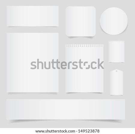 note paper set - stock vector