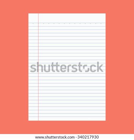 Note paper - Vector - stock vector
