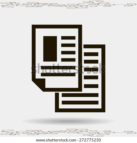 note paper  - Vector icon isolated  - stock vector