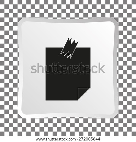 Note Papers. Vector - stock vector