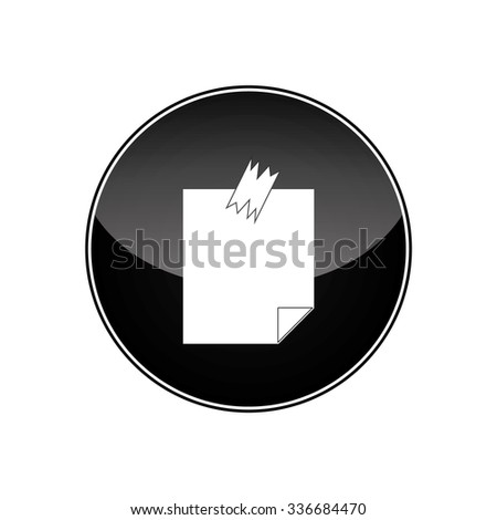 Note Papers. Vector illustration - stock vector
