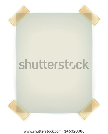 Note Papers with a sticky tape stuck to the wall - Vector File EPS10 - stock vector