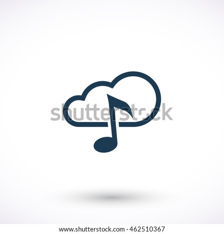 Note vector icon. Cloud pictogram. Graphic symbol for web design, logo. Isolated sign on a white background.