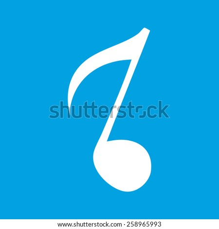 Note web white icon isolated on a blue background. Vector symbol