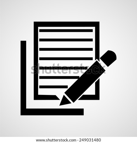 Notebook and pen vector illustration - stock vector