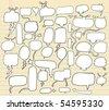 Notebook Doodle Speech Bubble Vector Illustration Set - stock vector