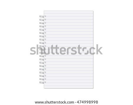 notebook for your design and logo. Mock up