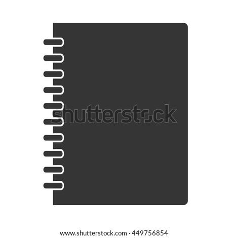 Notebook icon - stock vector