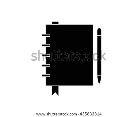 Notebook Icon Eps10 - stock vector