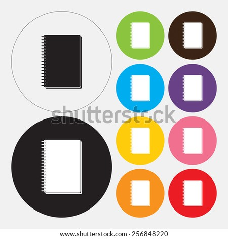 Notebook icon - Vector - stock vector