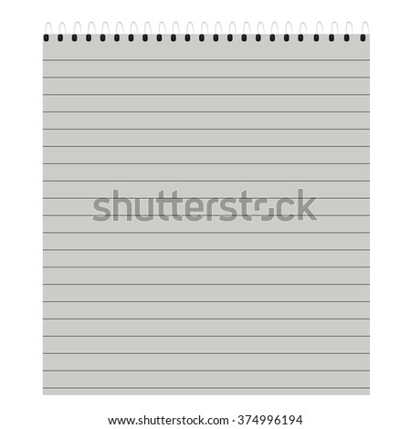 notebook in a  line - stock vector