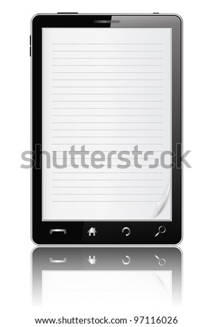 Notebook in Mobile Phone, vector eps10 illustration