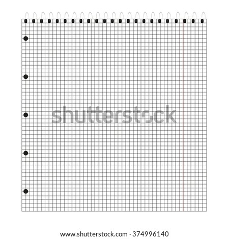 notebook  in the box - stock vector