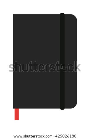 Notebook organizer paper note page business vector