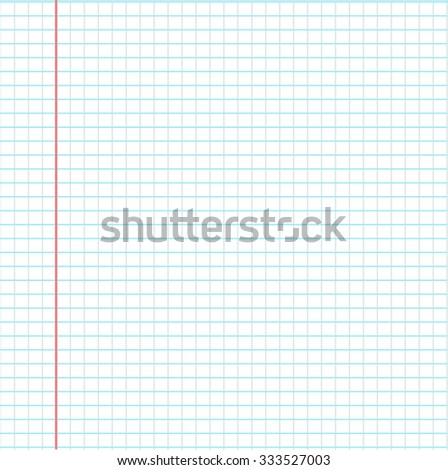 Notebook page template vector