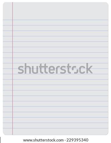 Notebook. Paper - stock vector