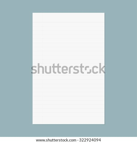 notebook paper - stock vector
